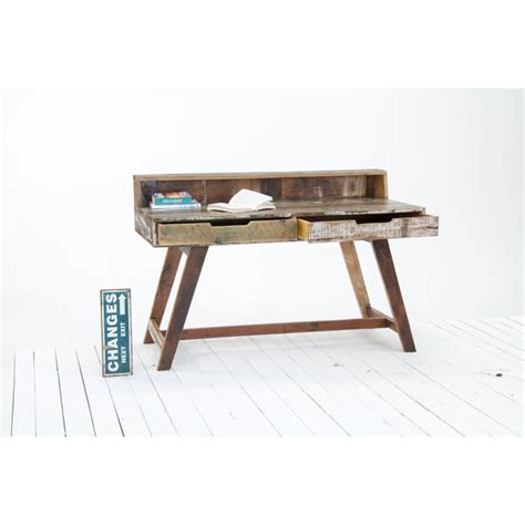 ebay bureau driftwood reclaimed wood office furniture writing desk
