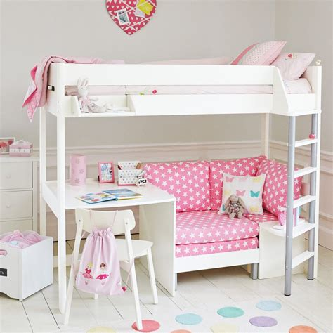 Sofa Bed Sleeper Sale by Merlin High Sleeper White With Pink Sofa Bed