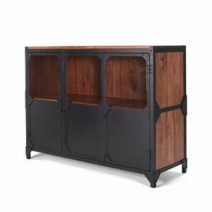 Sideboard Schwarz Holz : anrichte sideboard brooklyn aus eisen in industrial design notoria ~ Whattoseeinmadrid.com Haus und Dekorationen