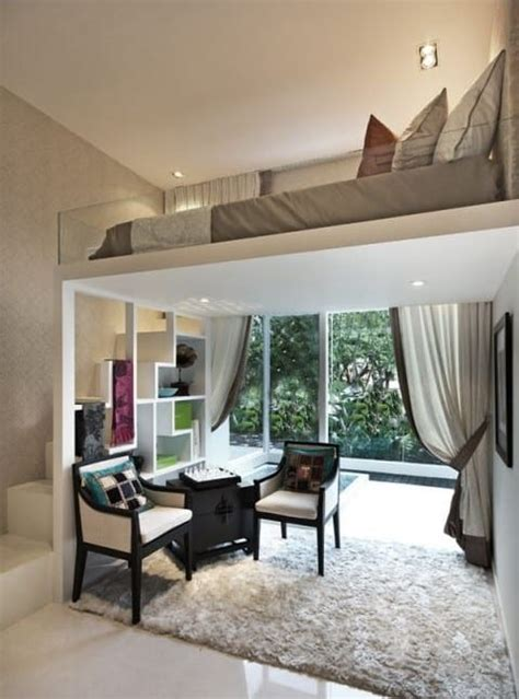 kleine wohnung einrichten mit hochbettkleines wohzimmer