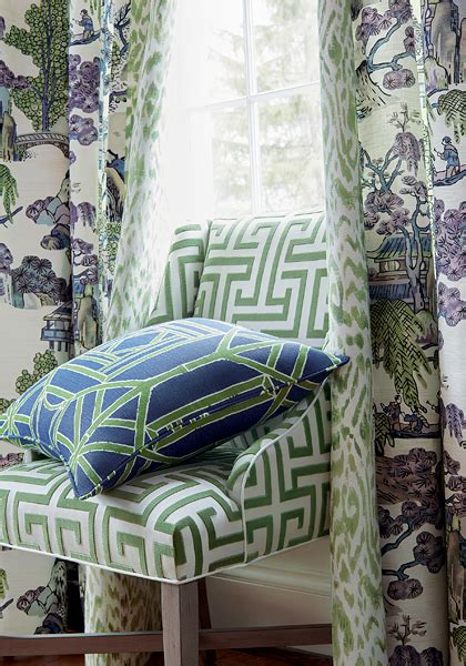 asian scenic fabric  dynasty collection