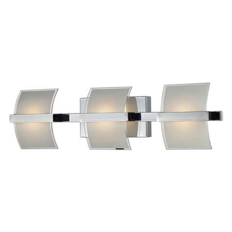 led bathroom vanity light shop westmore lighting 3 light aprokko polished chrome led