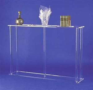 Table En Plexiglas : bureaux et tables plexiglas ~ Teatrodelosmanantiales.com Idées de Décoration