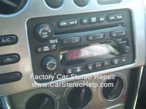 pontiac vibe car stereo removal  repair   youtube