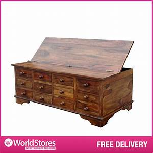 large wooden storage chest sheesham cube design 12 With large wooden coffee table with drawers