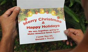 Donald Trump sends a Christmas message… and it's ...