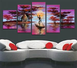 2018 Framed Oil Painting Canva Big Size Abstract African