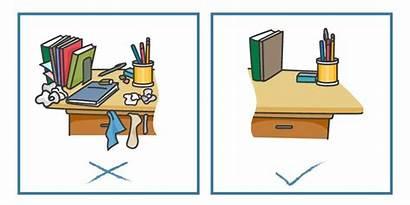 Desk Clean Clipart Tidy Productivity Simple Enhance