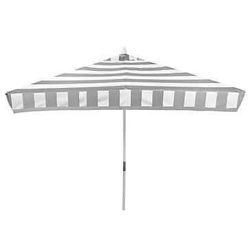 new arrival z gallerie portofino umbrella in grey and