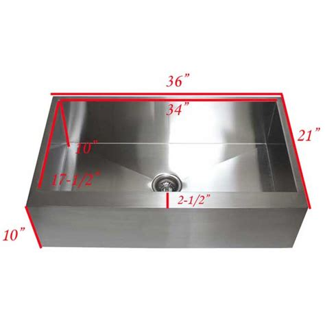 36 inch apron sink 36 inch stainless steel single bowl flat front farm apron