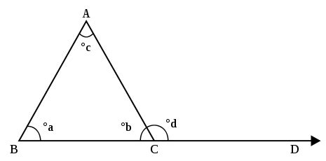exterior angle property math  triangle