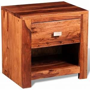 Nachttisch Mit Schublade : nachttisch aus shishamholz mit einer schublade g nstig kaufen ~ Eleganceandgraceweddings.com Haus und Dekorationen