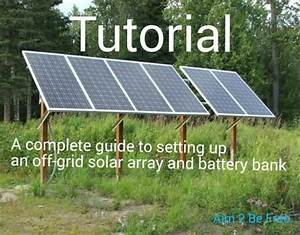 How To Hook Up Solar Panels  With Battery Bank