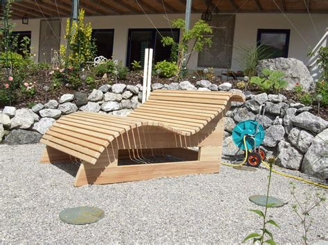 Garten Lounge Möbel Holz by Relaxliege Wellnessliege Holzliege Gartenm 246 Bel Entspannung