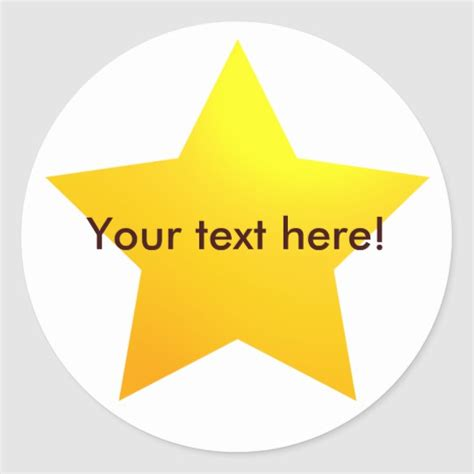 Gold Star Stickers