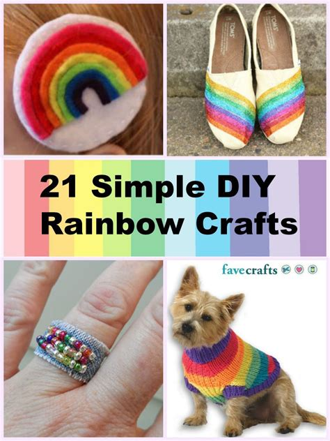 21 Simple Diy Rainbow Crafts For Springtime Favecraftscom