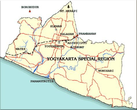 yogyakarta map diparta diy