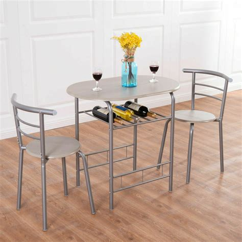 piece dining set table  chairs bistro pub home kitchen