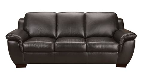black full italian leather classic pc sofa set wwooden legs