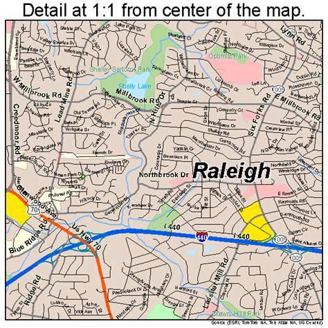 raleigh north carolina street map