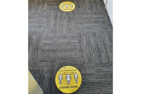 social distance guide floor stickers pack   abbey group