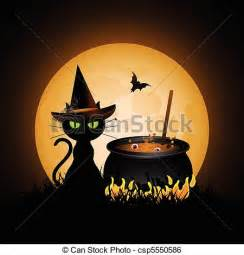 Witch Cauldron Silhouette Clip Art