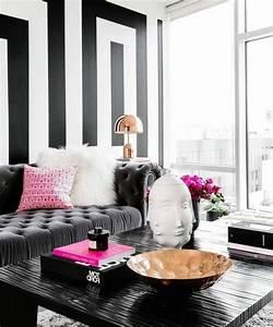 Peinture En Noir Et Blanc : couleur peinture salon conseils et 90 photos pour vous inspirer ~ Melissatoandfro.com Idées de Décoration