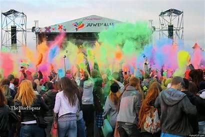 Holi Celebrate Spring Festivali Hindistan Renklerin Happy