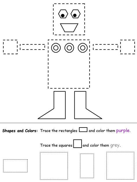 preschool rectangle activities square preshool 171 funnycrafts 675