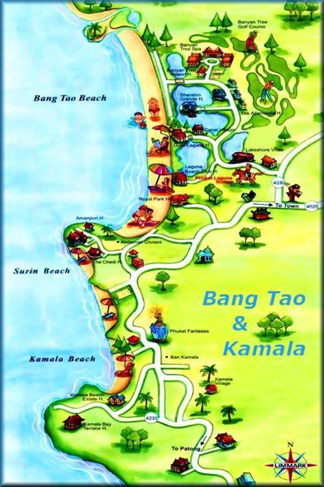 phuket kartenmaps patong beach kartenkata beach karte