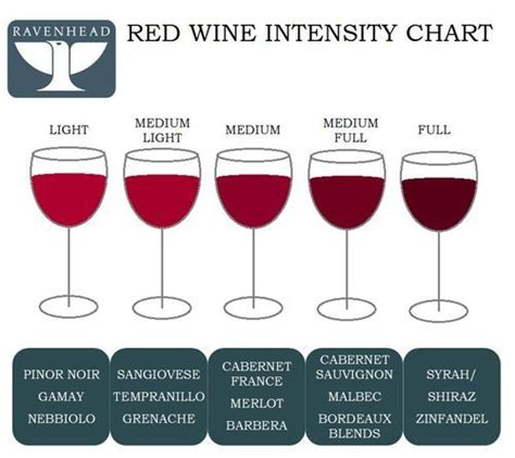 light red wine for beginners ravenhead red wine intensity chart find out which red
