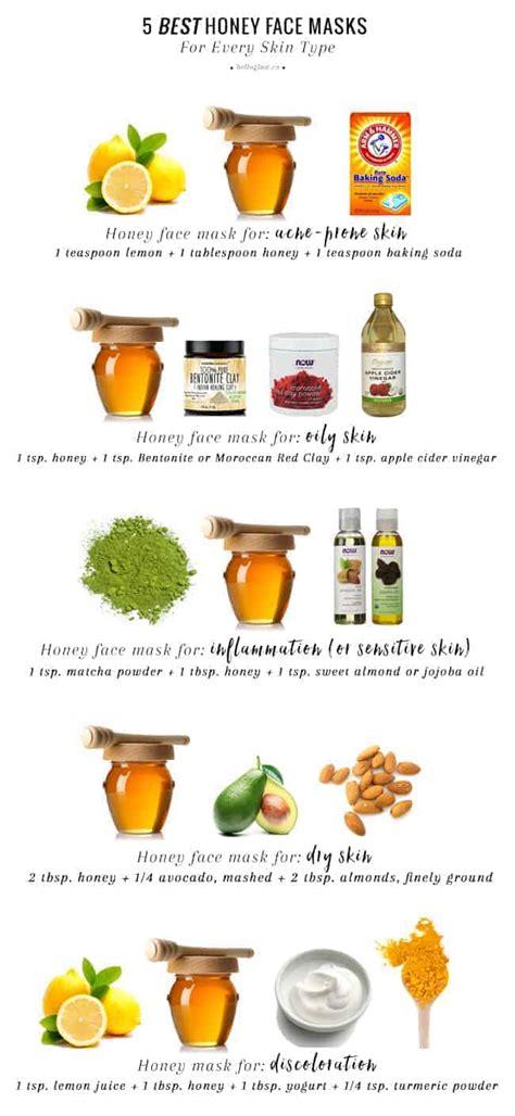 honey face masks   skin type  glow