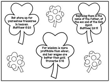 Saint patrick religious coloring pages with st day color s saint kateri tekakwitha coloring page St. Patrick's Day Bible Verse Memorization Coloring Page ...