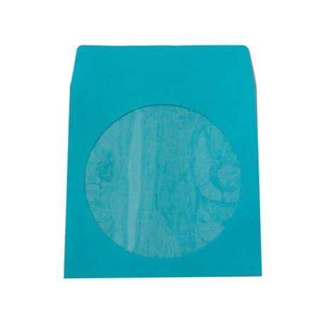 sky blue paper sleeves    clear window