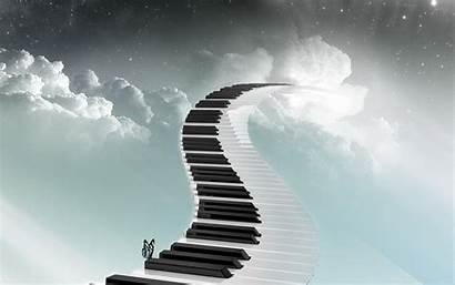 Piano Sky Keys Cloud Wallpapers Robot Keyboard