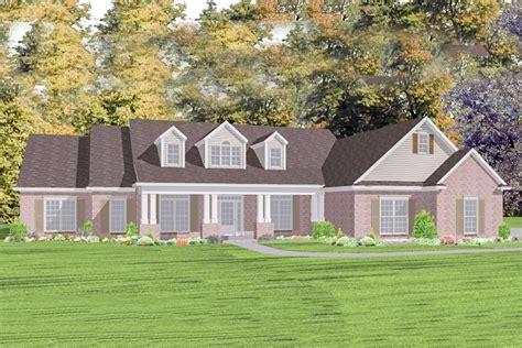 spacious ranch house plan  rear carport hh architectural designs house plans