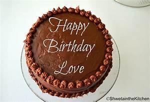 Shweta in the Kitchen: Birthday Cake - Chocolate Cake with ...