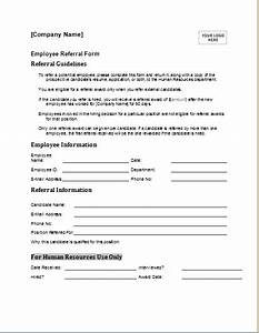 Employee Referral Form Template Word Editable Employee Referral Form For Ms Word Document Hub