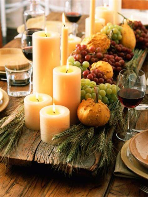 thanksgiving candle centerpiece idea family holidaynet