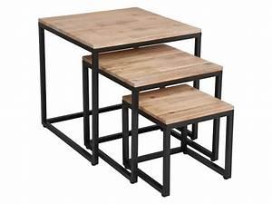 Table Gigogne Industriel : table basse gigogne style industriel choix d 39 lectrom nager ~ Teatrodelosmanantiales.com Idées de Décoration