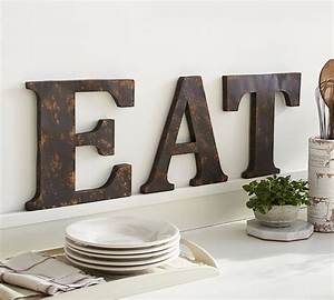 Heavy metal home 30 ways to rock metal decor brit co for Kitchen colors with white cabinets with large metal letter wall art