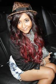 dark brown hair with red ombre - hair-sublime.com