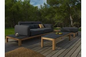 Base canapé structure en teck Tekura LES JARDINS