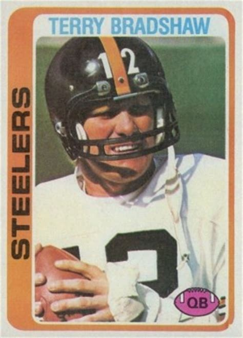 topps terry bradshaw  football card  price guide