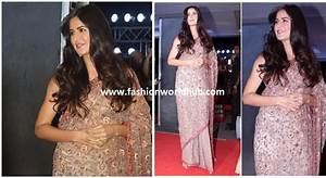 Katrina kaif in floral Embroidered saree! | Fashionworldhub