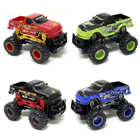 toy monster truck videos for new bright 1 24 r c ff monster truck twin pack colors
