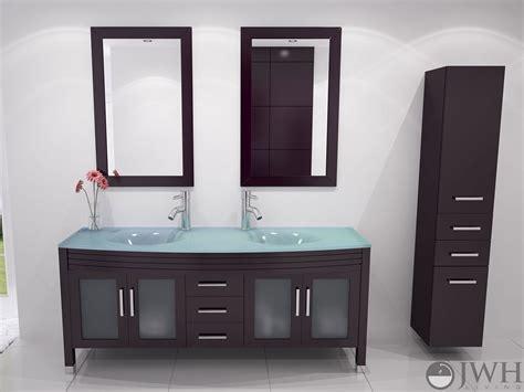 Glass Bathroom Vanity by 63 Quot Grand Regent Bathroom Vanity Glass Espresso