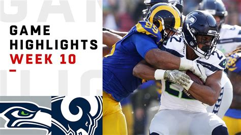 seahawks  rams week  highlights nfl  youtube