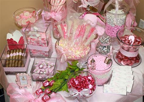 Pink Baby Shower Candy Buffet