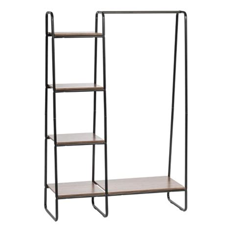 clothes rack at target iris metal garment rack with wood shelves target